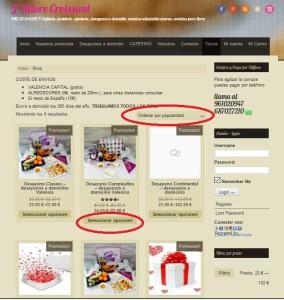 Pagina tienda online